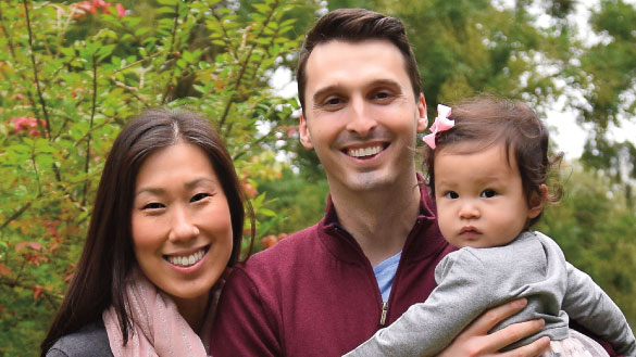 Dr. Viechnicki with his family.